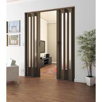 Porta Sanfonada Madeirada Translucida C/fechadura 96x210cm