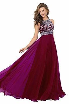 Vestidos de noche color vino
