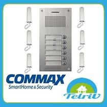 Frente Commax 6 Pulsadores Con 6 Teléfonos Y Fuente