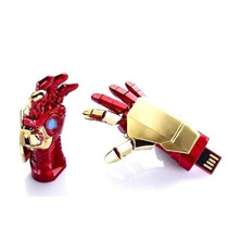 Pen Drive 8gb Homem De Ferro Iron Man Vingadores Mão Com Luz