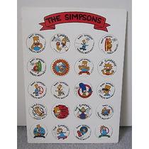 Tazos De Los Simpson Set Completo 20 Milk Caps 1993