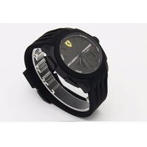 Relógio Scuderia Ferrari Original - Pulseira Em Borracha