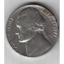 Estados Unidos Moneda De 5 Cents Año 1977 !!