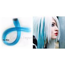Mechas Coloridas Tic Tac - 1 Unidade - Azul Claro 55 Cm