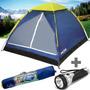 Barraca Camping 2 Pessoas Tipo Iglu Mor Acampamento + Brinde