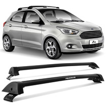 Rack Teto Eqmax Novo Ford Ka 2015 2016 Travessa Wave Preto