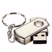 Pen Drive 32 Gb Flash Storage Inox Chaveiro Hd Externo Usb