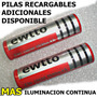 2 Pilas Bateria 18650 4.2v 3500 Recargable Linterna Led Cree