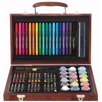 Set De Pintura Artistica Kit Dibujo Marcadores Arte De Lujo