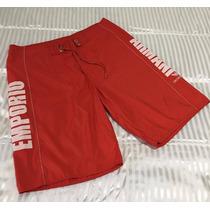 Bermuda Emporio Armani Swimwear Red Água Vilebrequin Top $