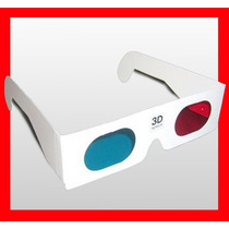 Lentes 3d Anteojos Gafas Tv Rojo Cyan / 50 Unidades /