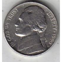 Estados Unidos Moneda 5 Cents Año 1990 D !!!