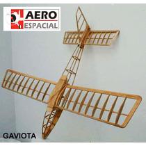 Planeador Gaviota Kit En Madera Balsa Ideal Elec/rc O V.lib