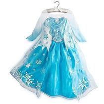 Disfraz Elsa Princesa Frozen Disney Bello Vestido Ana