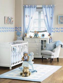 cortinas de voile en colores infantiles pcuarto del bebe