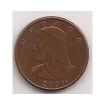 Panama Moneda De 1 Centesimo De Balboa Año 2001