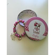 Pulsera + Lata Personalizada, Souvenirs Para Nenas