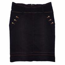 Saia Jeans Black Moda Evangélica Midi (42 Ao 52) - Pura Flor
