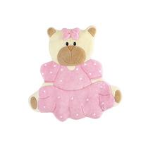 Tapete Infantil Pelúcia Gigante Urso Vestido Rosa