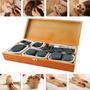 36 Piedras Calientes De Balsato Para Terapias+caja De Madera