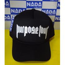 Boné Justin Bieber Purpose Tour Aba Curva Trucker Cap Tela
