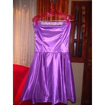 Vestido Violeta De Raso.
