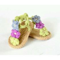 Sandalias, Calzado Para Bebe, Tejidas En Crochet Más Modelos