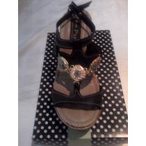 Sandalias Para Damas Maria Pizzola Tallas 37 Color Negro