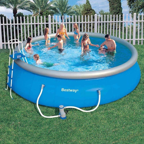 piscina bestway completa filtro escada capa lona. Black Bedroom Furniture Sets. Home Design Ideas