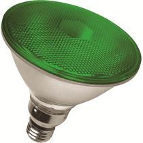 Lampada Par 38 Led 6w 127v Verde - Uso Externo E Interno