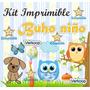Kit Imprimible Buho Niño Fiesta D Bebes Para Nenes Candy Bar