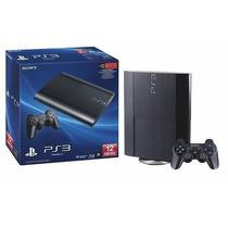 Playstation 3 - Ps3 Slim Semi-novo Completo + Jogo Grátis