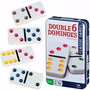 Juego Domino Doble Seis Numeracion En Colores Estuche Lata