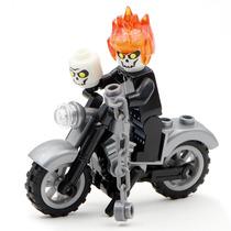 Genial Motocicleta Ghost Rider Compatible Con Lego