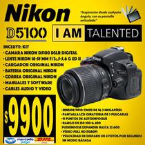 Nikon D5100 16.2 Mp Dslr- Lente Af-s Vr 18-55mm Pant Girator