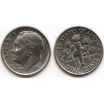 Moneda Estados Unidos De One 1 Dime 10 Centavos Año1990 D