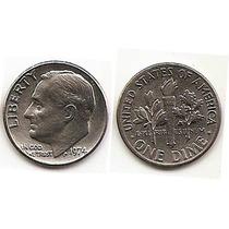 Moneda Estados Unidos De One 1 Dime 10 Centavos Año1974