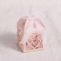 Cajas Para Dulces Para Recuerdo De Papel Corazon Rosas