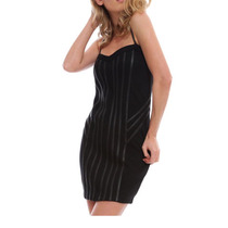 Mini Vestido Negro Marca Bebe Lapiz Sexy Tl-s Coctel Silueta