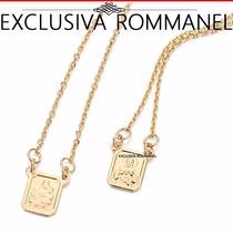Rommanel Escapulario Coraça Jesus Carmo Folheado Ouro 531222