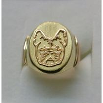 Sello De Oro 18k Bulldog Francés