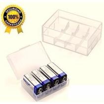 Estuche Protector Para Guardar Pilas Baterías Cuadrada De 9v