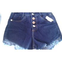 Kit Com 5 Shorts E 5 Capri Jeans Com Lycra Cintura Alta