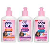 Kit Cachos Definidos Natu Hair Kids Linha Infantil 03 Intens