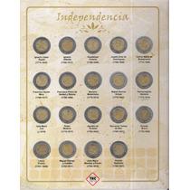 Album Completo Monedas De 5 Pesos Revolución E Independencia