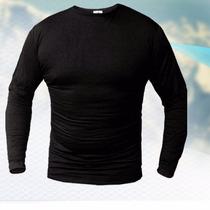 Camiseta Termica Forest Negro Liso Bamboo Organico Hombre