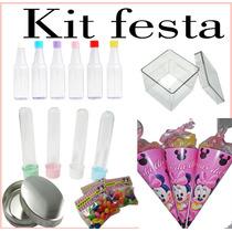 Kit Festa 130 Itens Tubete,cones.latinhas Etc..