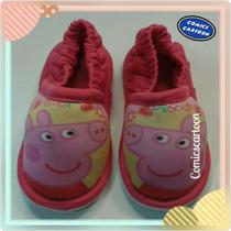 Babuchas Pantuflas Peppa Pig Pepa Niñas Calzado Moda