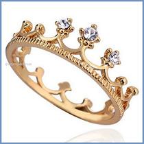 Corona Anillo De Compromiso Oro Amarillo 18k Envio Gratis