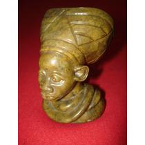 Busto En Piedra De Aborigen Afro